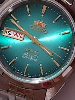 💯ORIENT 3 STAR Automatic Watch FAB0000Af9 Automatic GREEN