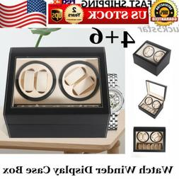 4+6 Automatic Rotation Leather Watch Winder Storage display