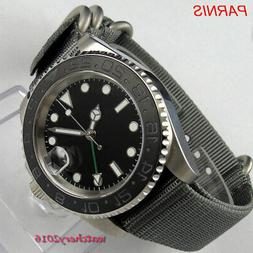 40mm parnis 316L steel automatic mens Watch Sapphire glass G