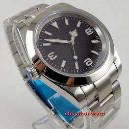 40mm sterile black dial solid case sapphire