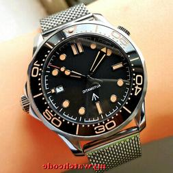41mm bliger sterile black dial sapphire glass automatic mens