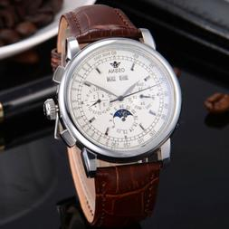 42mm Multifunction White Dial Automatic Silver markers Ossna