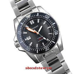 43mm PARNIS white marke Sapphire glass 20atm automatic mens