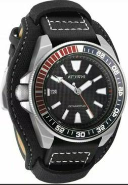 Invicta 44mm Samurai Automatic Lagarto  Leather Strap Watch