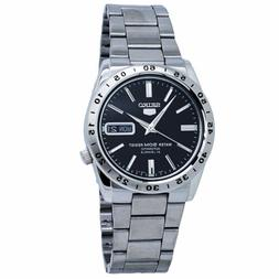 Seiko 5 Automatic Black Dial Stainless Steel Men's Watch SNK