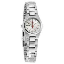 5 automatic silver dial stainless steel ladies