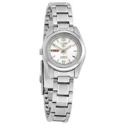 Seiko 5 Automatic White Dial Stainless Steel Ladies Watch SY