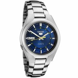 Seiko 5 SNK615 Men's Stainless Steel Blue Dial Day Date Auto