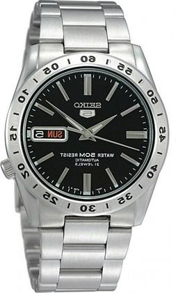 Seiko 5 SNKE01 Automatic Day-Date Black Dial Stainless Steel