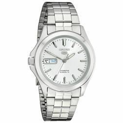 Seiko 5 SNKK87 Automatic Day-Date Silver Dial Stainless Stee