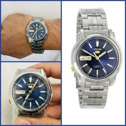 SEIKO 5 SNKL79K1 Automatic Blue Dial SS Mens Watch, Reloj Ca