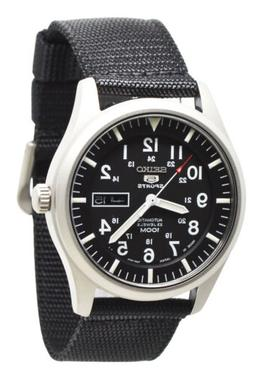 Seiko 5 SNZG15J1 Automatic Black Dial and Band Mens Made in
