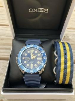 Seiko 5 Sport Diver Automatic Blue Dial Rubber Mens Watch Na