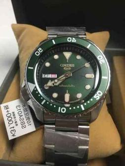 SEIKO 5 Sports Auto-Wind Mechanical Suits Green SBSA013+Worl