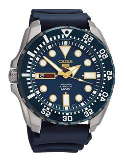 Seiko 5 Sports Automatic SRP605K2 Blue Dial Blue Rubber Band