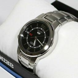 Seiko 5 Stainless Steel Automatic Black Dial 21 Jewels Men's