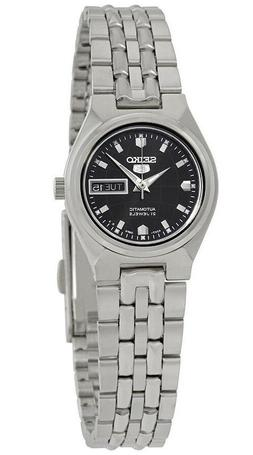 Seiko 5 SYMK43 Women's Stainless Steel Black Dial Day Date A