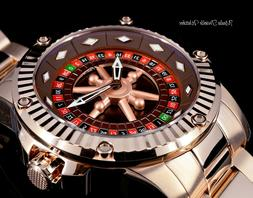 "52MM Invicta Specialty CASINO AUTOMATIC ""Roulette"" All Rose"