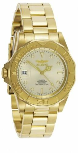 Invicta Men's 'Pro Diver' Japanese Automatic Gold-Tone-Stain