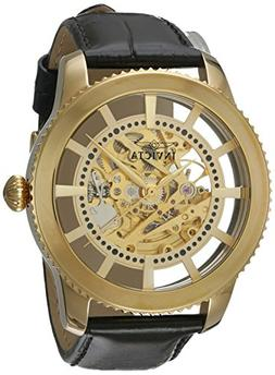 Invicta Men's 'Vintage' Automatic Stainless Steel and Leathe