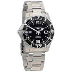 New Longines Hydroconquest Black Dial Automatic Steel Men's