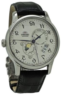 Orient Sun and Moon Automatic RA-AK0003S Black Leather Band