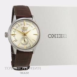 Authentic Men's Seiko Presage Manual/Automatic Brown Leather