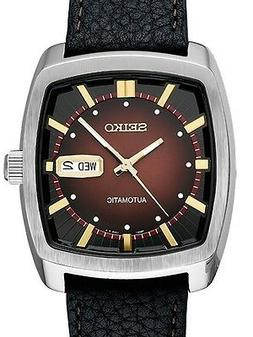 Authentic Seiko Men's Recraft Series Automatic Black Leather