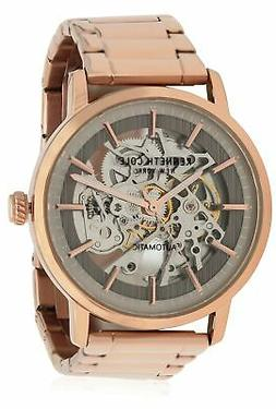Kenneth Cole Automatic 20 Jewels Skeleton Rose Gold Men's Wa