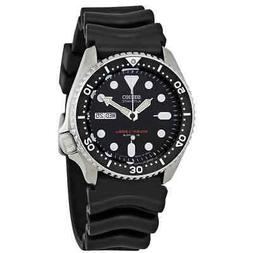 Seiko Automatic Black Dial Black Rubber Men's Watch SKX007J1