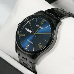 Citizen Automatic Black Stainless Steel Blue Dial Men's Watc
