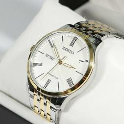 automatic elegant two tone men s watch