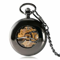 Automatic Men Pocket Watch Hollow Smooth Mechanical Luxury P