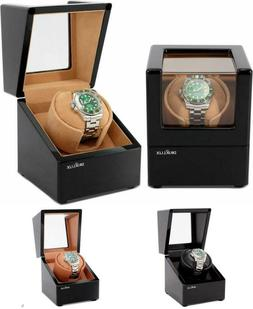 Automatic Single Watch Winder Box for Rolex w Quiet Motor So
