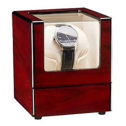Automatic Single Watch Winder Box Wood Display Box Organizer