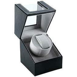 Automatic Single Watch Winder Wood Display Box Organizer Jap