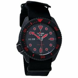 *BRAND NEW* Seiko 5 Men's Sports Automatic Black Red Nylon S