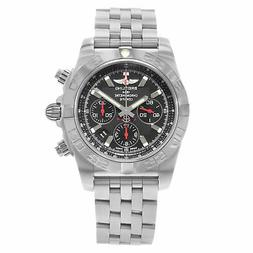 Breitling Chronomat Black Dial Steel Automatic Mens Watch AB