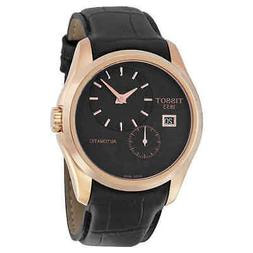 Tissot Couturier Automatic Black Dial Black Leather Men's Wa