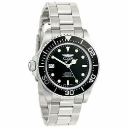 Men's Pro Diver Automatic Stainless Steel Black Dial Coin-Ed