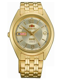 Orient FAB0000CC 3 Star Automatic 21 Jewel Gold Dial Gold St