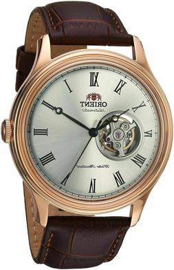 Orient FAG00001S Open Heart Automatic White Dial Brown Leath