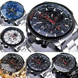 For FORSINING Mens Sports Watch Classic Automatic Mechanical