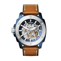 fossil me3135 brown leather automatic mens watch