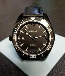 Genuine Parnis, Ocean Star Black Ion Automatic Dive Watch