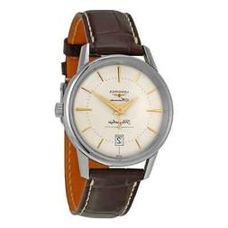 Longines Heritage Flagship Automatic Silver Dial Brown Leath