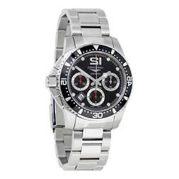 Longines Hydroconquest Automatic Chronograph Black Dial Men'