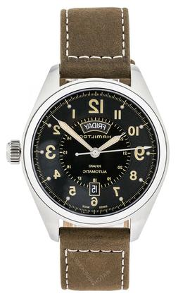 Hamilton khaki field Watch automatic day and date with leath