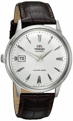 Orient 2nd Generation Bambino FAC00005W0 White Dial Brown Le