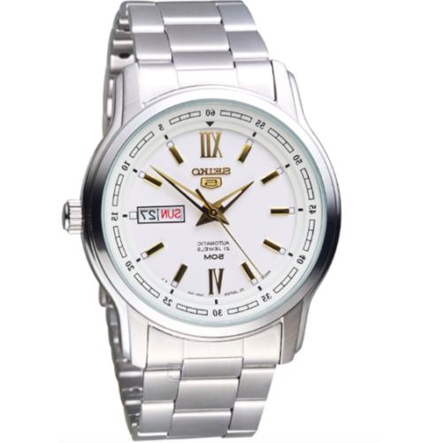 5 men s automatic stainless steel watch